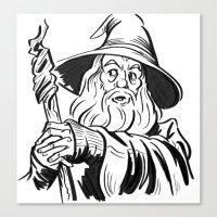 gandalf Canvas Prints featuring Gandalf by K. Morgan