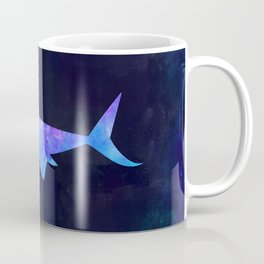 SHARK IN SPACE // Animal Graphic Art // Watercolor Canvas Painting // Modern Minimal Cute Coffee Mug