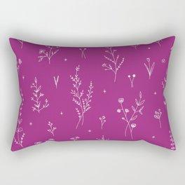 Magic Wine Wildflowers Rectangular Pillow