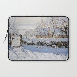 1869-Claude Monet-The Magpie -89 x 130 Laptop Sleeve