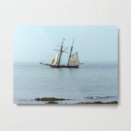 Sailing back in time Metal Print
