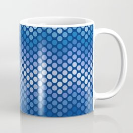 Dot Chevron: Navy Coffee Mug