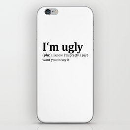 Ugly Dictionary Meme iPhone Skin