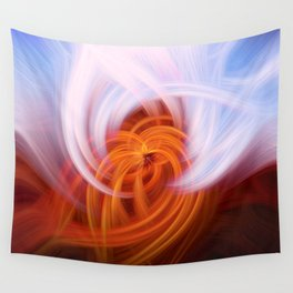 Heaven And Hell Light Fibers Wall Tapestry