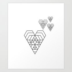 Hex heart Art Print