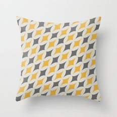 Diamonds in Grey & Yellow Throw Pillow