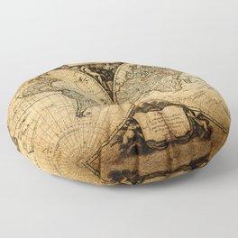 World Map 1752 Floor Pillow