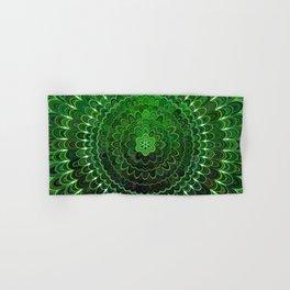 Green Flower Mandala Hand & Bath Towel