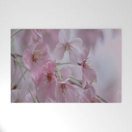Delicate Pink Blossoms Welcome Mat