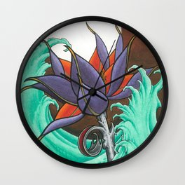 Mech Lotus Moon Wall Clock