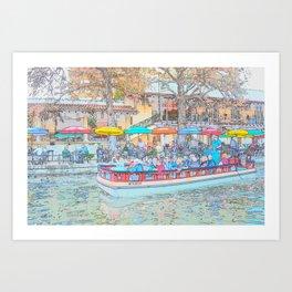 Ride Down The River - San Antonio, Texas Art Print