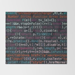 Computer Science Code Throw Blanket
