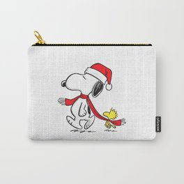Snoopy Woodstock hug Christmas Carry-All Pouch