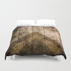 Wood and Triangles Duvet Cover