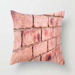Brick Wall I Throw Pillow