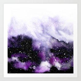 Oceanic Violet Art Print
