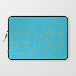 Moroccan Nights - Gold Teal Mandala Pattern - Mix & Match with Simplicity of Life Laptop Sleeve