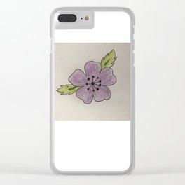 Een bloem voor myn bloem Clear iPhone Case