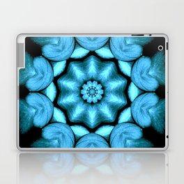 Blue Green Heart Mandala Kaleidoscope Pattern Laptop & iPad Skin