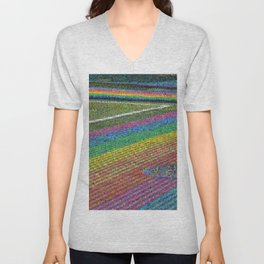 Castro Rainbow Crosswalk in Bloom Unisex V-Neck