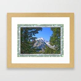 MOUNT BAKER FROM KULSHAN RIDGE Framed Art Print