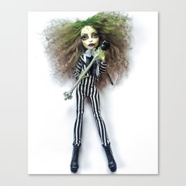 Female Beetle Juice Doll Canvas Print