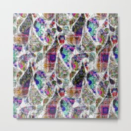Abstract Paisley Metal Print