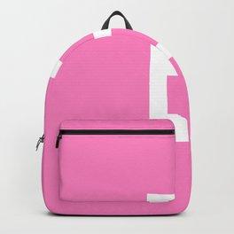 LETTER E (WHITE-PINK) Backpack