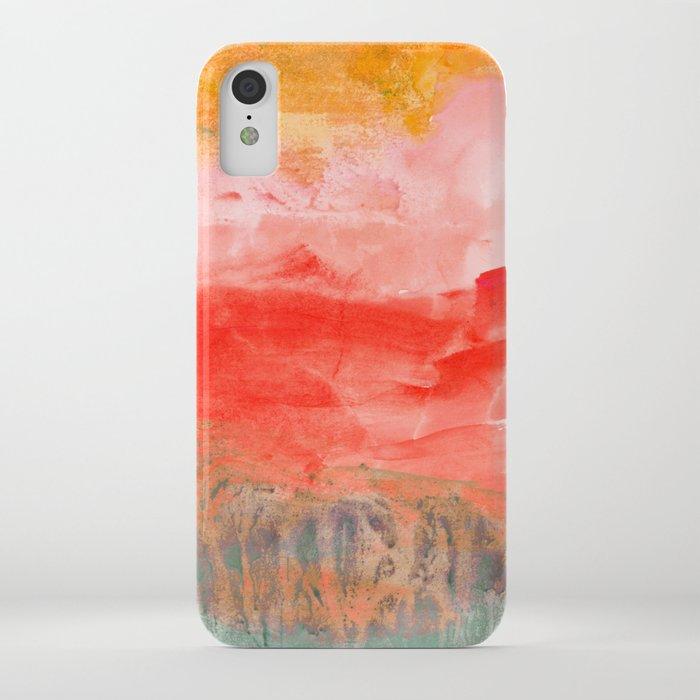 coral horizon iphone case