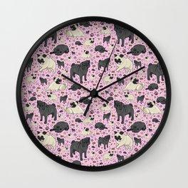 I Love Pugs! Wall Clock