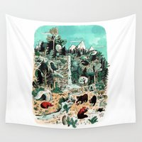 canada Wall Tapestries featuring Wild Canada by Mathilde George