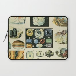 Vintage Minerals Chart Laptop Sleeve
