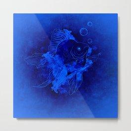 Fish Illustration (Goldfish) Metal Print
