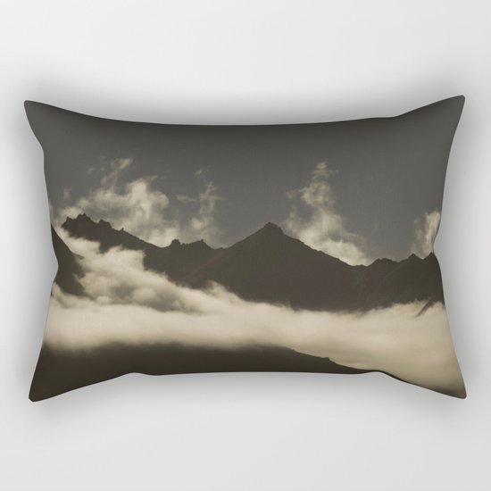 up in the mountains, down on my mind Rectangular Pillow