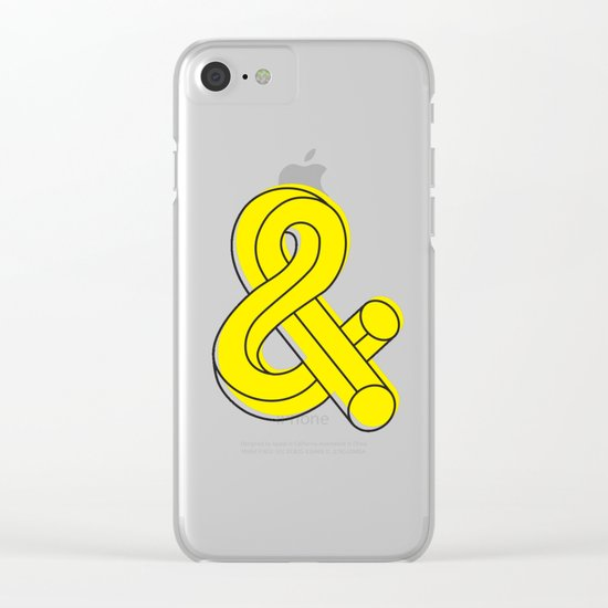 Ampersand Clear iPhone Case