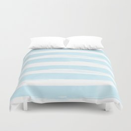 Pastel Blue Stripes Duvet Cover