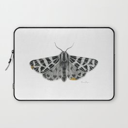 Kintsugi - A Graphite Drawing of a Moth by Brooke Figer Laptop Sleeve