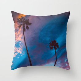 Sunset in California Throw Pillow