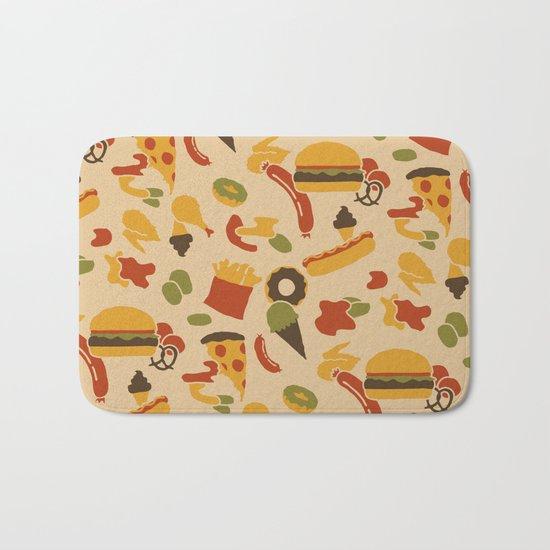 Fast Foodouflage Bath Mat