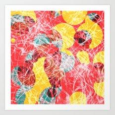 Colorful abstract artwork Art Print