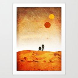 New Hope Minimalist Design Art Print