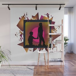 Messy family Wall Mural