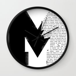 Music is: a poem Wall Clock