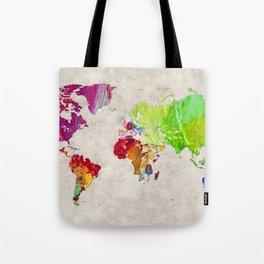 World Map 52 Tote Bag