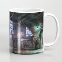 uncharted Mugs featuring Bridge by Jordan Grimmer