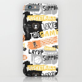 Basketball grunge Print iPhone Case
