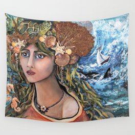 Cordelia~ Jewel of the Sea Wall Tapestry