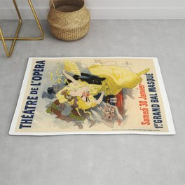 Belle Epoque vintage poster, French Theater, Theatre de L'Opera Rug