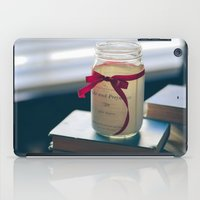 pride and prejudice iPad Cases featuring Pride & Prejudice Mason Jar by {she tells stories}