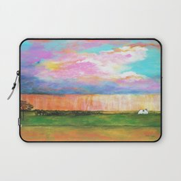 April Showers, Abstract Landscape Laptop Sleeve